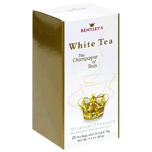 Buy Bentley's Oriental Treasure White Tea, 25-Count Boxes (Pack of 4) (Bentley's, Health & Personal Care, Products, Food & Snacks, Beverages, Tea, White Teas)