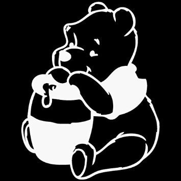 Winnie The Pooh Honey Jar Disney Vinyl Car/Laptop/Window/Wall Decal (Pooh Car Window Decal compare prices)