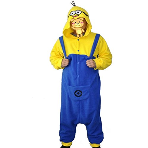 CuteOn Kigurumi Vello Unisex Adulto Costume Pigiama Onesie Minions Cosplay Size XL