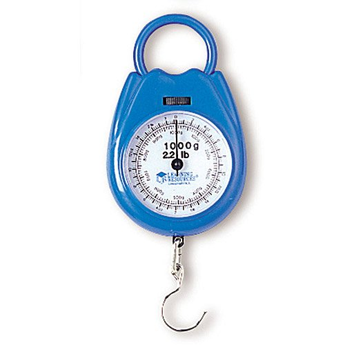 Spring Scale Calibrated In Grams And Ounces With 1,000G/2.2 Lbs, Sturdy Plastic