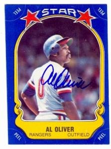 Al Oliver autographed Baseball Card (Texas Rangers) 1981 Fleer Star Stickers #64 by Autograph Warehouse