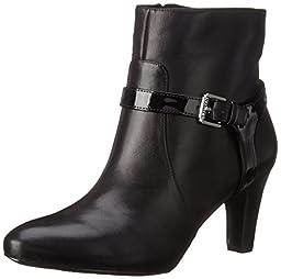Lauren Ralph Lauren Women\'s Saida Boot, Black Burncalf/Patent Polyurethane, 5.5 B US