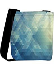 Snoogg Abstract Blue Pattern Designer Womens Carry Around Cross Body Tote Handbag Sling Bags - B01I1IQFQU