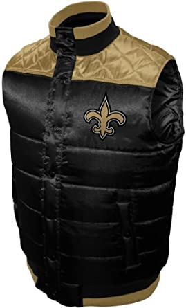NFL Mens New Orleans Saints Polar Puffer Vest by MTC Marketing, Inc