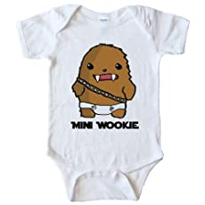 Mini Wookie Baby Chewbacca - Star Wars OnesieWhite (24 MONTH)