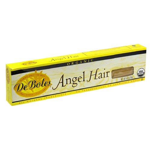 De Boles Pasta Organic Angel Hair, 8-Ounce Boxes (Pack of 12)