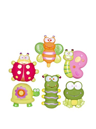 Elegant Baby Kid's 5 Piece Garden Party Bath Squirties, Multi, One Size