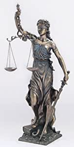 NEW! Huge Lady Scales of Justice Justitia Lawyer Attorney Gift