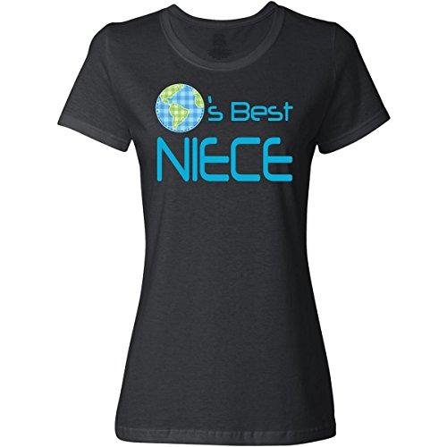 Inktastic Women's Worlds Best Niece Junior Fit T-Shirt Medium Black