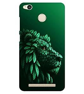 Chiraiyaa Designer Printed Premium Back Cover Case for Xiaomi Redmi 3S Prime (lion nature leaves tree) (Multicolor)