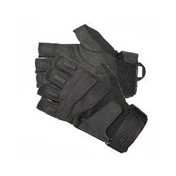 Blackhawk Men\'s Black S.O.L.A.G. Special Ops 1/2 Finger Light Assault Glove (Black, Medium)