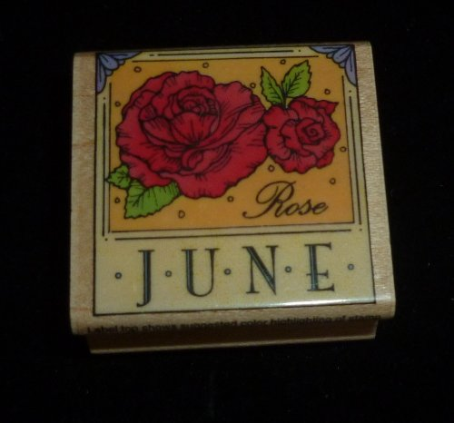 June Roses Rubber Stamp - 1