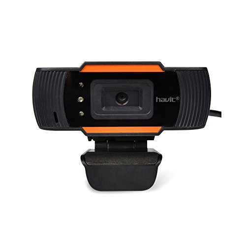 HAVIT® HV-N5086 Webcam HD 720p microphone intégré compatible Skype/MSN/Facebook (Noir et orange)