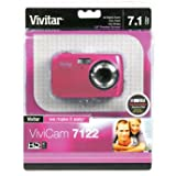 Vivitar 7122PK ViviCam 7 MP Compact System Camera with 1.8-Inch LCD Body (Pink)