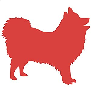 Amazon.com - Japanese Spitz Dog Decal Sticker (red, 13 inch, reversed