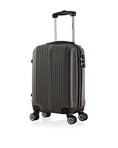"InUSA San Francisco 18"" Carry-On Hardside Luggage, Charcoal"
