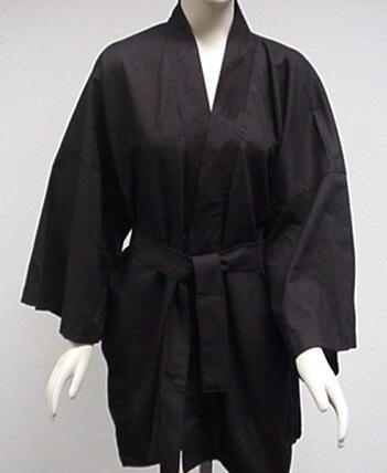 Hapi Coat, Black, 100% Cotton - Buy Hapi Coat, Black, 100% Cotton - Purchase Hapi Coat, Black, 100% Cotton (Rimann & Associates, Rimann & Associates Sleepwear, Rimann & Associates Womens Sleepwear, Apparel, Departments, Women, Sleepwear & Robes, Womens Sleepwear)