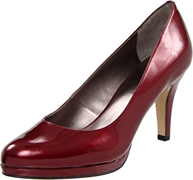 Anne Klein Women's Wystere Dark Red Classic Synthetic Heel Size 6 M US