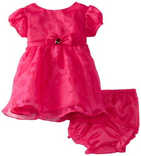 Rare Editions Baby Girls Newborn Organza Burnout Dress