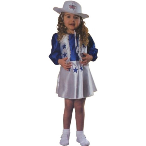 Toddler Dallas Cowboys Cheerleader Costume Size 2-4T