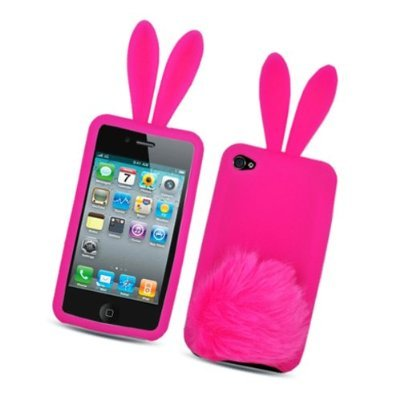 Hot Pink Bunny with Fur Tail Design Snap on Soft Silicon Skin Cover Case for Apple Ipod Touch Itouch 4 4g 4th Gen халат cleanelly махр maschio муж р р 48 синий