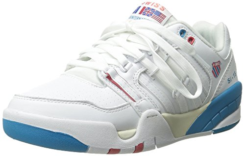 K-SWISS SHOE SI-18 INTERNATIONAL WHT/BLUDNBE/RSEOFS 4
