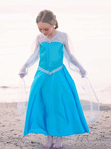 Creative Education of Canada (Great Pretenders) Girls Elsa Ice Crystal Queen Gown Dress-up Costume