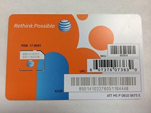 ATT 3G LTE プリペイド Micro SIMカード SKU 40954 並行輸入品