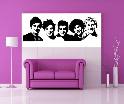 one direction group one direction wall decal home decor 13 x 35 from best priced decals. Black Bedroom Furniture Sets. Home Design Ideas