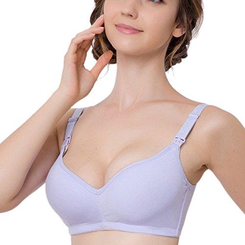 buy Aivtalk Pregnant Womens 1 Piece-style Cotton Wireless Nursing Bra Breastfeeding Bra Size 90 for sale