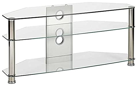 Cheap  MMT Jet CL1000 Clear Glass TV Stand for up to 47 inch TVs