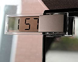 Aumo-mate New Mini Car Digital Auto Clock LED Screen Auto Accessories Button Batteries Super Power Transparent