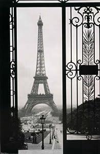 LAMINATED Eiffel Tower (Gate, Paris) Art Poster Print - 22x34