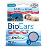 Bio Ears Soft Silicone EarPlugs Protection - 3 Pairs (Pack of 2)