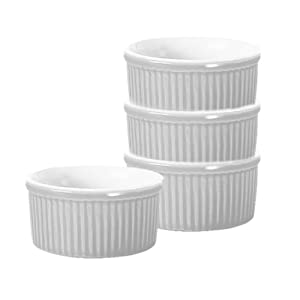 Emile Henry 59840 6-Ounce Ramekins, Set of 4, White