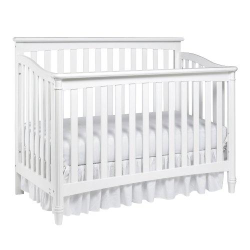 Europa Baby Geneva Convertible Crib White Cribs