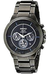 Seiko Men's SSC287 Black Stainless Steel Solar-Power Watch