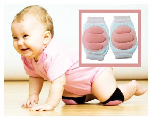 BABY CRAWLING KNEE PADS TODDLER ELBOW CUSHIONS-- LIGHT PINK