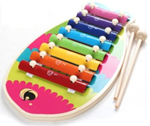 「Shikyou」 Fish Design Xylophone Musical Toys Wisdom Development for Kids (Classic Guitar Scale Chart compare prices)