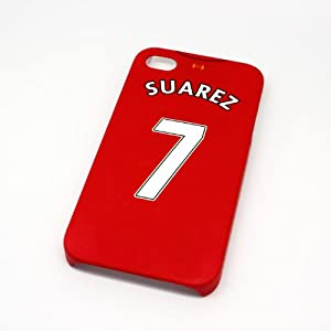 Liverpool FC Suarez Football Shirt Style Mobile Phone Cover Case for iPhone 4/4s- Non Fade, Hard Wearing Rubberised Finish packaged in Presentation Box from SmartRestyle