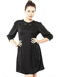 XnY Women's Dress (DR 1020001 A_Black_14)