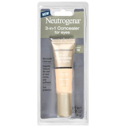 Neutrogena 3-in-1 Concealer For Eyes, SPF 20, Light 10, 0.37-Ounces (10.4 g)