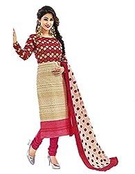 Aarvi Women's Cotton Unstiched Dress Material Multicolor -CV00060