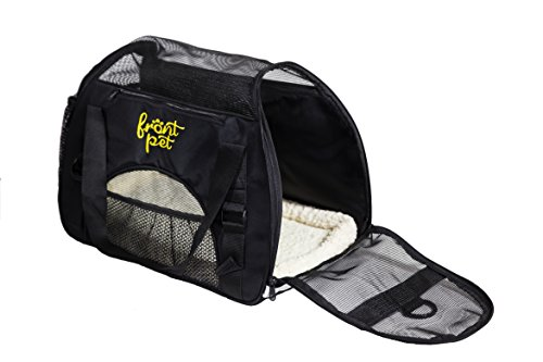 FrontPet Soft-Sided Pet Carrier for Small Dogs and Cats, Airline Approved