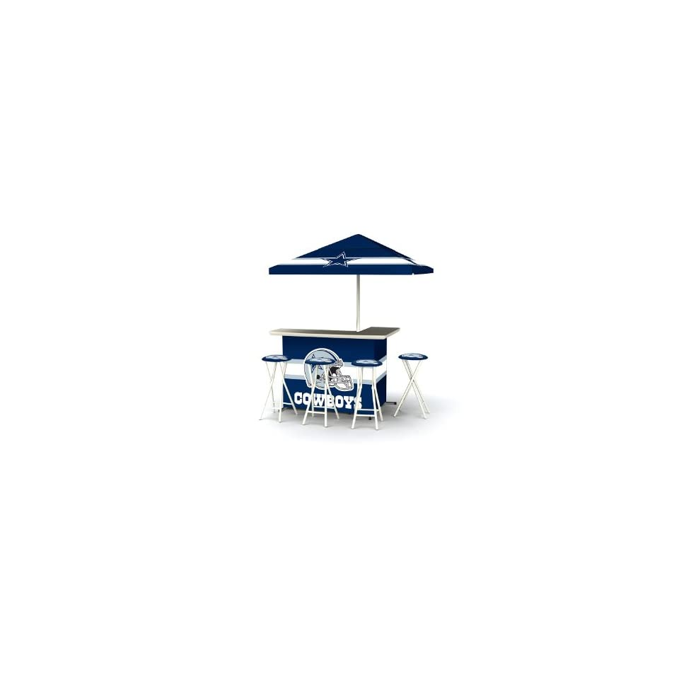 Dallas Cowboys NFL Portable Bar with Bar Stools  Sporting Goods  Sports & Outdoors