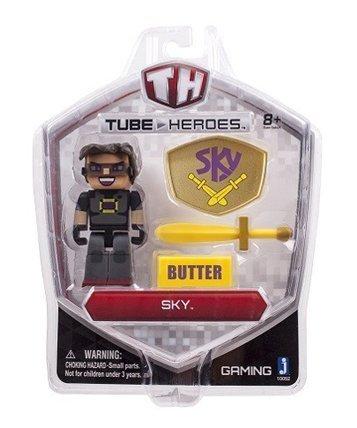 5 Tube Heroes Bundle - 5 Action Figures with Accessories - Captain Sparklez, Exploding TNT, Sky, Ant Venom, Caveman Films by Tube Heros Zoofy International (Captain Caveman Figure compare prices)