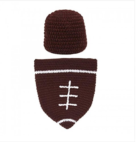 HEBE Baby Football Cocoon with Beanie Hat Set Photography Photo Props(EL01)