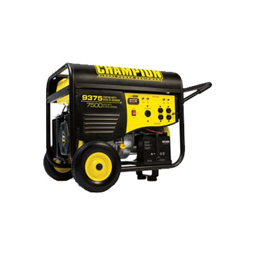 Champion Power Equipment 41537 9,375 Watt 439cc 4-Stroke Gas Powered Portable Generator With Electric Start (CARB Compliant)