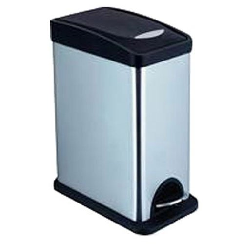honey-can-do-trs-06309-square-trash-can-with-liner-stainless-steel-black-chrome-21-gal