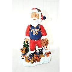 New York Knicks Official NBA Santa Clauss xmas resin hand painted Limited Edition...